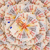 Background of the euro banknotes Stock Images