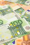 Background from  euro banknotes Royalty Free Stock Photo