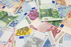 Background of euro banknotes Royalty Free Stock Image