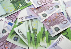 Background of the euro banknotes Royalty Free Stock Images