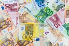 Background of euro banknotes. Seamless background made of euro banknotes - pile of money Royalty Free Stock Photo