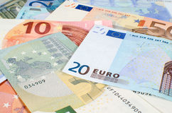 Background of euro banknotes Stock Photography