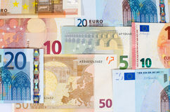 Background of euro banknotes Royalty Free Stock Photos