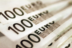 Background of euro bills. Royalty Free Stock Photos