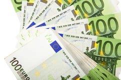 Background of euro bills Stock Photos