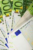 Background of euro bills. Lot of money out of the euro banknotes. Success in business Stock Images