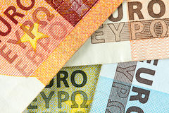 Background from Euro currency Stock Image