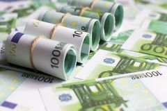 Background of Euro currency Stock Photo