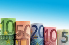 Background of euro money Royalty Free Stock Images