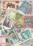 Background of the European banknotes Stock Image
