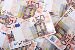 Background of Euros Stock Photography