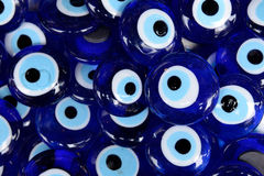 A background of Evil eye amulets. Stock Image
