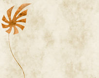 Background with exotic leaf. Collage, sepia-toned, paper texture Royalty Free Stock Photo