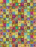 Background of exotic squares Royalty Free Stock Image