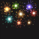 Fireworks exploding. Background of exploding fireworks ideal for New Year Royalty Free Stock Photography