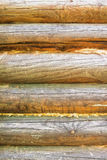 Background of exterior log wall Stock Photography