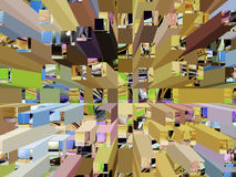Background extrude Stock Images