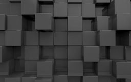 Background from extruded squares Stock Image