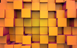 Background from extruded squares Stock Images
