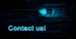 Background with eye and words. Internet concept Royalty Free Stock Image