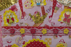 Background fabric with buttons Stock Image