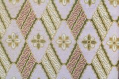 Fabric with flower pattern texture and background Royalty Free Stock Photography