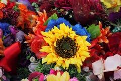 Background fabric flowers Stock Image
