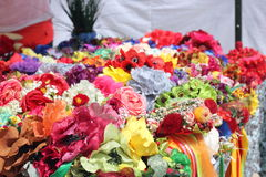 Background fabric flowers Stock Photography