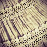 Background from fabric with lace Royalty Free Stock Image