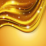 Of the background fabric satin gold. Illustration of the background fabric satin gold Stock Photography