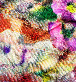 Background fabric with smeared on her paints Royalty Free Stock Photos