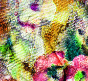 Background fabric with smeared on her paints Royalty Free Stock Photo