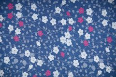 Background Fabric Texture with flowers. Fabric texture, cloth background with flowers Royalty Free Stock Images