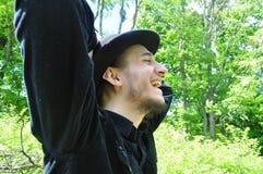 background face man over white young Στοκ Φωτογραφίες
