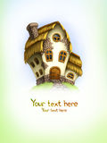 Background with fairy tale house Stock Images