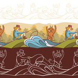 Background with fairytale characters Royalty Free Stock Image