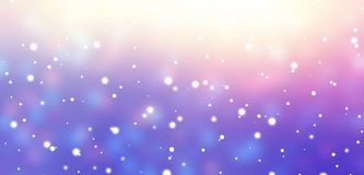 Background fallen snow empty. Winter banner. Texture iridescent blurred. Yellow, pink, violet glare abstract illustration. Stylish image for a variety of design Stock Photography