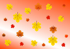 A background with falling autumn leaves Stock Images