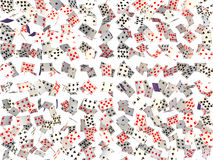 Background of falling cards Royalty Free Stock Photo