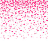 Background with falling hearts Royalty Free Stock Images