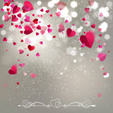 Background of Falling Hearts Royalty Free Stock Image