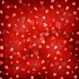 Background of Falling Hearts Royalty Free Stock Photos