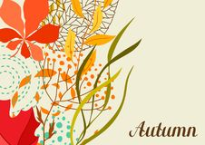 Background with falling leaves. Natural illustration of autumn foliage Stock Image