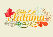 Background with falling leaves. Natural illustration of autumn foliage Royalty Free Stock Image