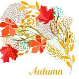 Background with falling leaves. Natural illustration of autumn foliage Stock Photo