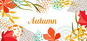 Background with falling leaves. Natural illustration of autumn foliage Stock Photos