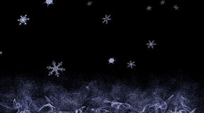 Background with falling snowflakes Stock Photography