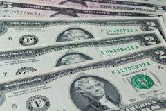 US Dollars : US dollar bills close up stock image
