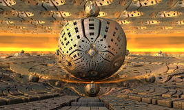Background fantastic 3D. Background, fantastic 3D constructions computer rendered design Stock Photography