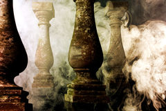 Background in fantasy art with smoke Royalty Free Stock Image